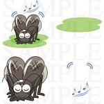 ポップタッチな昆虫イラスト素材集