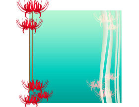 無料|WEB素材|イラスト|飾り枠/彼岸花プレート