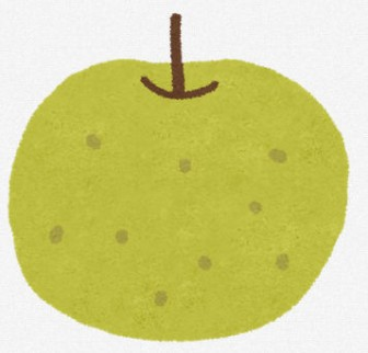 梨のイラスト(フルーツ): 無料イラスト かわいいフリー素材集