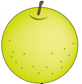 果物17-梨 -食のイラスト素材-イラストポップ