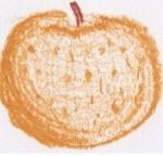 梨のイラスト: クレヨンで描いた手書き無料(フリー)イラスト集