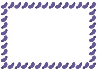 [野菜のイラスト]茄子(ナス・なすび)のフレーム飾り枠