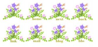 秋の七草【桔梗】【萩】【ススキ】【なでしこ】無料イラスト素材 - 花/素材/無料/イラスト/素材【花素材mayflower】