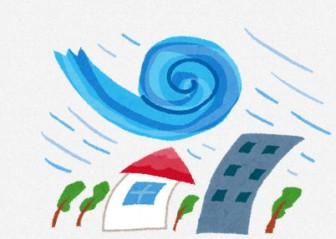 台風のイラスト(自然災害): 無料イラスト かわいいフリー素材集