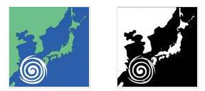 ワード・エクセル・パワーポイントで使える台風のイラスト