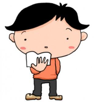 無料イラスト素材(かわいい系・商用利用可)|読書の秋がやってきた!文庫本を片手に立つ少年