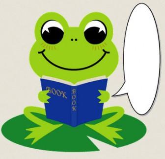 読書するカエルのイラスト : ぱちくり屋のPOP-BLOG