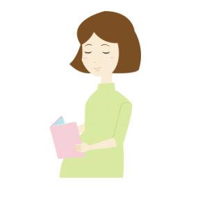 読書をする妊婦さんイラスト | 無料イラスト配布サイトマンガトップ