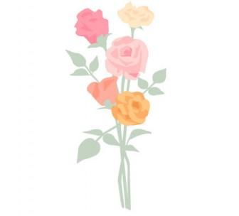バラ | ガーリー素材--商用利用も可能なベクターイラスト配布サイト--