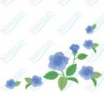 ブルーのバラ柄のイラスト|テンプレートの無料ダウンロードは【書式の王様】