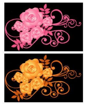 薔薇-バラ イラスト黒背景用 画像フリー素材|無料素材倶楽部