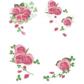 花通信イラスト素材|バラの花