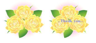 黄色い薔薇の花の無料イラスト素材 - 花/素材/無料/イラスト/素材【花素材mayflower】