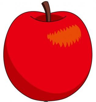 果物01-りんご -食のイラスト素材-イラストポップ