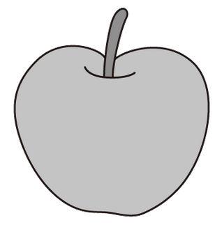 りんご(モノクロ)