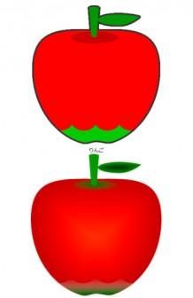 リンゴのイラスト|イラストカット