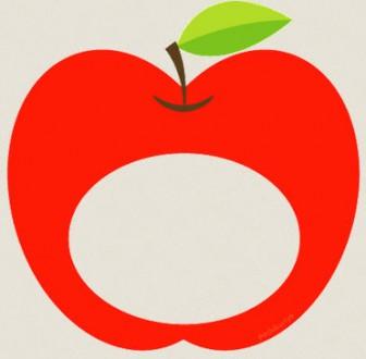 りんごのイラスト : ぱちくり屋のPOP-BLOG
