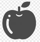 テカテカしたリンゴのイラスト | アイコン素材ダウンロードサイト「icooon-mono」