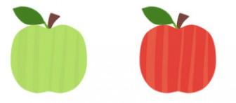 りんごのイラスト(1) - フリーイラスト・無料素材のイラスター
