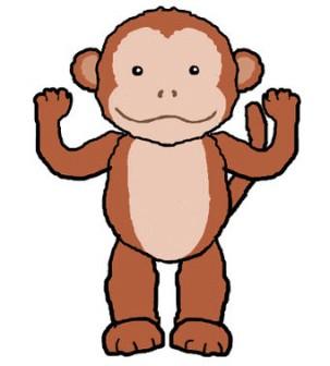 さる サル 猿 動物のイラスト素材 無料テンプレート
