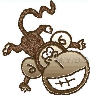 年賀用イラスト/申年(さるどし)・猿のイラスト・条件付フリー素材集