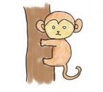 01猿/サルイラスト フリー素材
