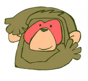 サルのお面の無料イラスト | かわいいイラストならイラストレイン