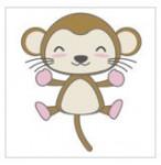 Monkey/猿 キャラクター クリップアート素材 フリー