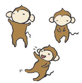 猿の手書きイラスト <無料> | イラストK