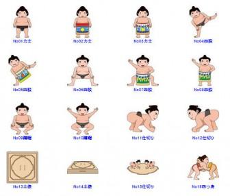 相撲の無料イラスト-イラストポップのスポーツクリップアートカット集