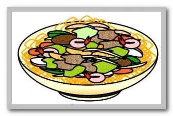 皿うどんのイラスト|フリーイラスト素材 変な絵.net