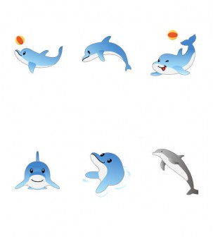 イルカのイラスト イラスト素材の素材ダス
