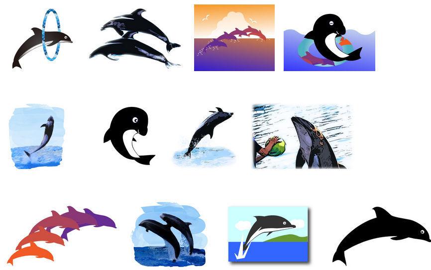 イルカの無料イラスト