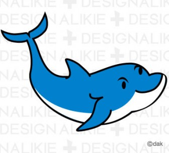 イルカの無料イラスト素材 イラストイメージ (ii)