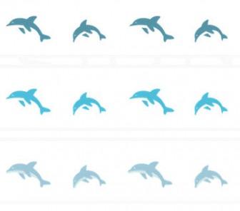 イルカのイラスト線   罫線・飾り罫ライン素材 FREE LINE DESIGN