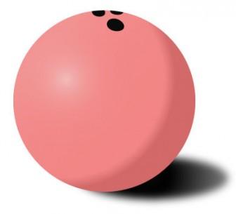 フリーイラスト集・素材集【ボーリングのボール(ピンク) イラスト】
