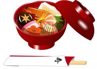 冬のイラスト・お正月/おせち料理のイラスト