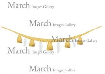 しめ縄のイラスト素材 クリップアートとベクター画像のMarch Images Gallery
