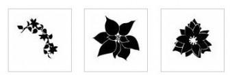 ポインセチア シルエット イラストの無料ダウンロードサイト「シルエットAC」