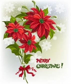 Merry Christmas! ポインセチアのブーケです(AI) - Free-Style
