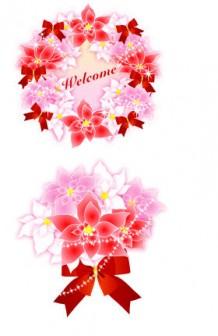 冬の花『ポインセチア』の無料イラスト素材 : ブログ素材/イラスト/桜屋