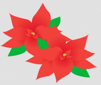 ポインセチア: 素材庭園(フリーイラスト素材集) ~花・動物・食べ物・人物・雑貨・ほか