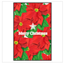 クリスマスカードポインセチア 無料素材 ダウンロード   ペーパーミュージアム