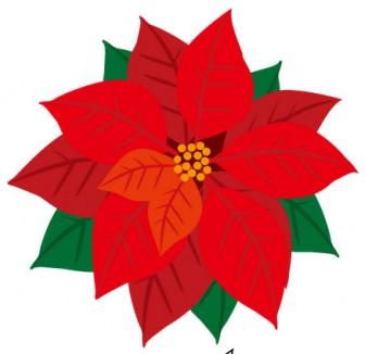 イラストポップの季節の素材 | 春夏秋冬の行事や風物のイラスト12月2-No30ポインセチアの無料ダウンロードページ