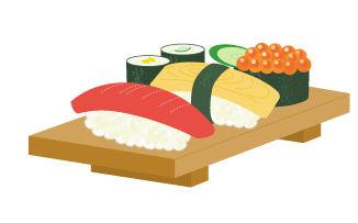 フリーイラスト集・素材集【お寿司 イラスト】