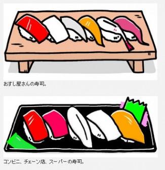 お寿司 イラスト -