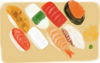無料イラスト素材 お寿司 マグロ いくら イカ イラスト