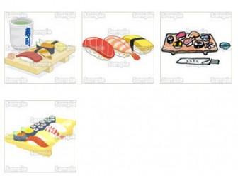 寿司のキーワードのイラスト素材一覧(1) | イラスト素材集