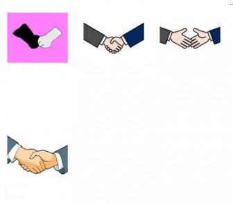 イラスト無料 「握手」のイラスト素材