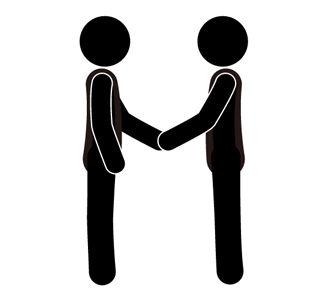 握手 - ピクトグラム - フリー素材